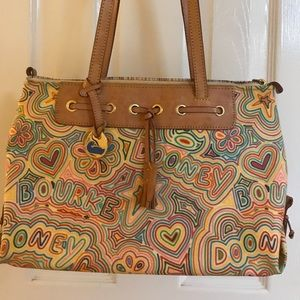 Dooney and Bourke Colorful Tassel Tote